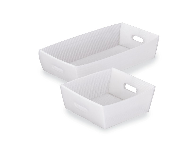 "25"" White Corrugated Mail Tray"