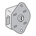 Built-in Key Style Lock for Open Access Designer Lockers