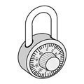 Combination Style Padlock for Open Access Designer Lockers