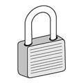 Keyed Padlock for Open Access Designer Lockers