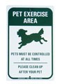 reflective pet sign