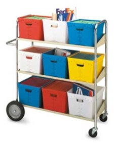 Mobile Mail Tote Carts