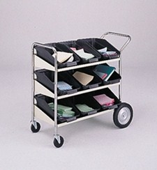 3 Shelf Mail Tray Cart #B173