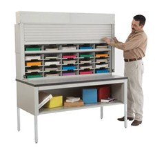40 Pocket 60-inch Wide Security Mail Sorter
