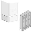 Optional End Bases for Extra Wide Metal Lockers