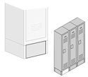 Optional Front Bases for Extra Wide Metal Lockers