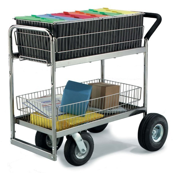 Wire Basket Mail Trolley Carts