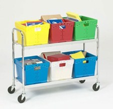 Mobile mail cart