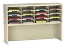 48in Wide Mail Sorter 16 Pockets With Riser #PY716