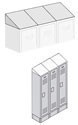 Optional Sloping Hoods for Extra Wide Metal Lockers