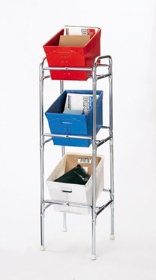 mail tote rack