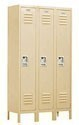 Extra Wide Metal Lockers - Single Tier - Three Wide - 18-inches Deep