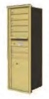 Commercial 4C Horizontal Mailbox with Locking Doors Gold Speck