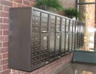 4C Horizontal Mailboxes | Auth Florence STD-4C Wall Mounted ...