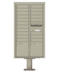 Pedestal mounted 4C mailboxes