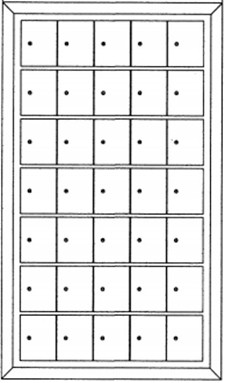Rear-loading Private Use Horizontal Mailboxes – 35 Doors