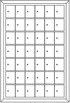 Rear-loading Private Use Horizontal Mailboxes – 42 Doors