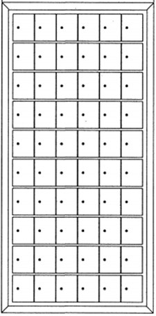 60 Door Private Use Rear-Loading Cluster Mailboxes