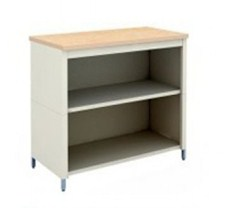 36-Inch Extra Deep Open Storage Table with 2 Lower Shelves