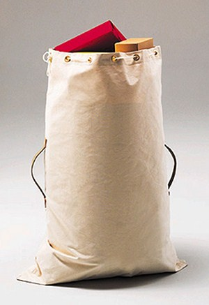"Largest White Duck Canvas Mailbags – 40"" High"
