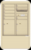 4CADD-08-D 4C Horizontal Depot Mailboxes Sandstone