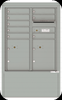 4CADD-08-D 4C Horizontal Depot Mailboxes Silver Speck