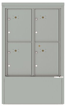 4CADD-4P-D 4C Horizontal Depot Mailboxes Silver Speck