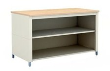 72-Inch Extra Deep Open Storage Adjustable Table with 2 Shelves