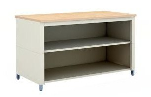 72-Inch Extra Deep Storage Adjustable Height Table With Center Shelf