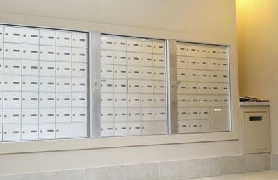 Apartment Building Mailboxes indoor mailboxes: vertical or horizontal | private use / usps