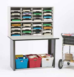 Mailroom equipment, furniture and supplies