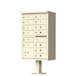 1570-13-SD 13 Door Cluster Mailbox for Commercial and Apartment Buildings