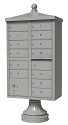 Traditional Decorative 13 Tenant Door Cluster Box Unit