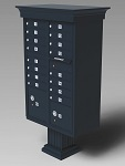 Classic Style 16-Door Outdoor Curbside Mailbox