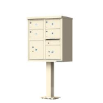USPS Approved 1570-4T5-SD Florence vital™ Cluster Mailbox for Apartments Sandstone
