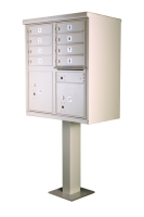 8 Box Cluster Pedestal Mailbox for Sale