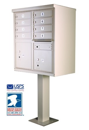 8 Door Cluster Pedestal Mailbox for Sale 1570-8 Florence vital™