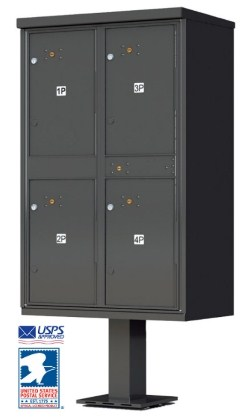 1590T2 Florence Outdoor Pedestal Parcel Mailbox USPS approved