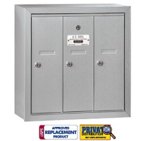3 Door Vertical Mailbox for Multi Family Units