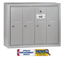 4 Tenant Door Vertical Mailbox USPS Multi Family Box