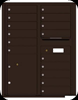 4C11D-15 Eleven Door High Fifteen Tenant 4C Mailbox with Parcel Locker Dark Bronze