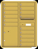 4C11D-15 Eleven Door High Fifteen Tenant 4C Mailbox with Parcel Locker Gold Speck