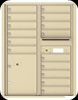 4C11D-15 Eleven Door High Fifteen Tenant 4C Mailbox with Parcel Locker Sandstone