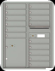 4C11D-15 Eleven Door High Fifteen Tenant 4C Mailbox with Parcel Locker Silver