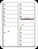 4C11D-15 Eleven Door High Fifteen Tenant 4C Mailbox with Parcel Locker White