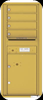 4C11D-04 Eleven Door High Four Tenant 4C Mailbox Gold Speck