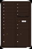 Dark Bronze 4C13D-14 Thirteen Door High Fourteen Tenant 4C Mailbox