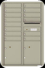 Postal Grey 4C13D-14 Thirteen Door High Fourteen Tenant 4C Mailbox