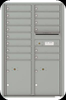 Silver Speck 4C13D-14 Thirteen Door High Fourteen Tenant 4C Mailbox