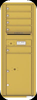 Versatile 5 Tenant Mailbox for sale from US Mail Supply With a parcel locker in Gold Speck